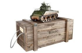 <b>Радиоуправляемый танк Torro Sherman</b> M4A3 ИК RTR 1:16 2.4G