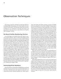observation techniques impact of behavior based safety page 10