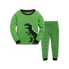 little hand kids boys pyjamas suit dinosaur cotton nightwear pjs little hand kids boys pyjamas suit dinosaur cotton nightwear pjs size 1 7 years