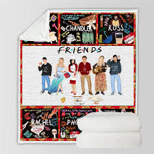 <b>SOFTBATFY</b> Friends Throw Blanket Sofa Bedding Blankets Drop Ship