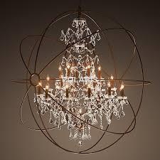 modern vintage orb crystal chandelier lighting rh rustic candle chandeliers pendant hanging light for home hotel candle decorative modern pendant lamp