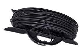 Купить <b>Удлинитель</b>-<b>шнур на</b> рамке 1 гнездо 3*0,75, черный, 30м ...