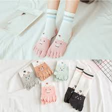1 <b>Pairs</b>/<b>Lot</b> Five Finger Socks <b>Women</b> Socks Slippery Autumn Winter ...