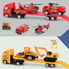 <b>1:64</b> Flatbed Trailer Trucks <b>Toy Alloy</b> Trailer Engineering Roller ...