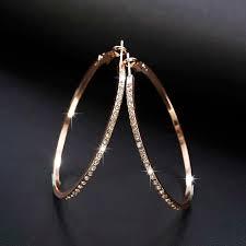 2018 <b>Fashion Hoop</b> Earrings With Rhinestone <b>Circle</b> Earrings ...