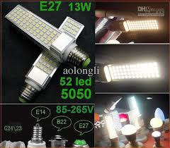 <b>Super</b> Bright Led Bulb E27 <b>G24</b> 52led 13W Lamps Bulb Lights 5050 ...