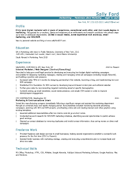 10 marketing resume samples hiring managers will notice entry level marketing resume sample
