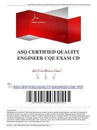 certified reliability engineer sample resume example of scientific asq certified quality engineer cqe exam cd 1491352987 asq certified quality engineer cqe exam cd certified reliability engineer sample resume
