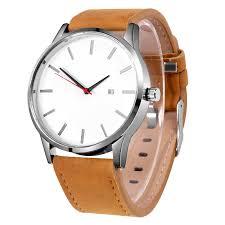 Men Quartz Watch <b>Sport</b> Wristwatch Leather Strap Mens Calendar ...