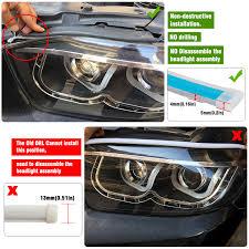 OKEEN <b>2pcs 60cm</b> Flexible LED <b>DRL</b> For Headlight Strip <b>daytime</b> ...