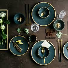 <b>NIMITIME Ceramic</b> Japanese Style Round Steak <b>Plate</b> Dish Rice ...