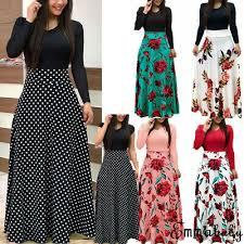 <b>USA Women's Summer Boho</b> Floral Short Sleeve Long Maxi Dress ...