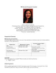 professional biography sample info professional bio template cyberuse