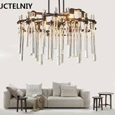 Modern crystal chandelier <b>Nordic creative living room</b> restaurant ...