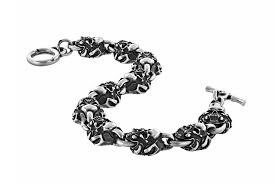 Серебряный браслет «Черепа», малый - Maximilian Silver Label