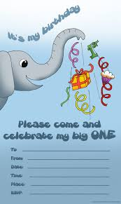 first birthday party invitations and ready to print 1st cute elephant invitation for the very first birthday
