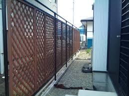 「単管パイプ支柱ウッドフェンス」の画像検索結果