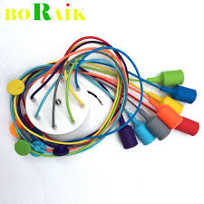 modern pendant lights 13 colors diy lighting multi color silicone e27 bulb holder lamps home decoration 4 12 arms fabric cable cable pendant lighting