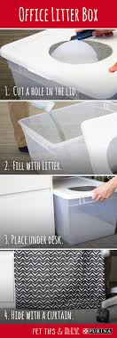 use this diy litter box idea to make your cat feel comfortable at the office bookcase climber litter box