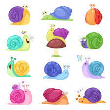 Premium Vector | <b>Snail</b> vector <b>snail</b>-<b>shaped</b> character with <b>shell</b> and ...