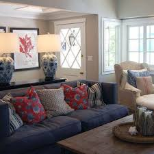 decor red blue room full: blue sofa with red pillow accents traditional home blue sofa design ideas pictures