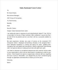 cover letter example for sales     download free documents in pdf    sales assistant cover letter example