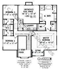 Carrington House Plan   Colonial House Plans    carrington house plan   nd floor plan