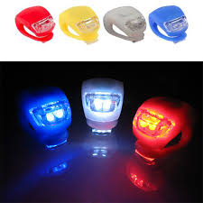 <b>1pcs Bike</b> Light Silicone LED Head <b>Rear Bicycle</b> Front Light Wheel ...