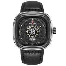 <b>KADEMAN</b> 9030 Men's Unique Square Dial Quartz Watch Leather ...