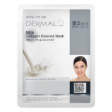 Dermal Korea Milk <b>Collagen Essence Face</b> Mask - Dermal Face ...