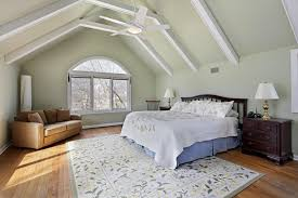 fresh cathedral ceiling bedroom vaulted ceiling with exposed painted white beams stand over light hard