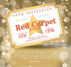 vintage style red and gold carpet event ticket party invitation vintage style red and gold carpet event ticket party invitation template royalty vector illustration