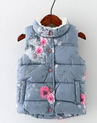grey girl and toddler <b>winter floral vest</b> | Girls/Ladies SS18 research ...