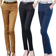 Women Pencil Pants <b>2019 Autumn High Waist</b> Ladies Office ...