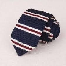 RBOCOTT Striped & Plain <b>Knitted Tie 7 cm</b> Men's Slim Ties Fashion ...