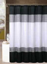 bathroom shower curtains pinterest white black and silver gray shower curtain sequins in x in
