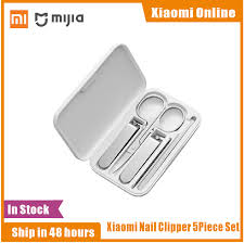 Xiaomi <b>Mijia 5pcs Stainless</b> Steel Nail Clippers Set Trimmer ...