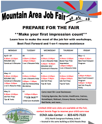 echo jobs center offers hours of prepare for the mountain prepare for the fair jpeg