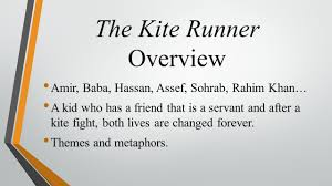 how to literature like a professor presentations cassie the kite runner overview amir baba hassan assef sohrab rahim khan