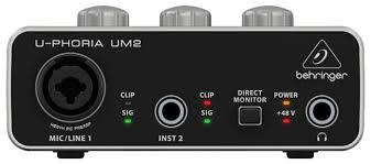 Внешняя звуковая карта <b>BEHRINGER U</b>-<b>PHORIA UM2</b> — купить ...