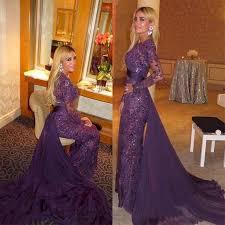 high quality purple muslim evening