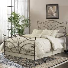 interior queen wrought iron bed bedroom endearing rod iron