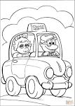 Такси раскраски для детей