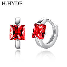<b>Trendy</b> 5 Colors <b>Shiny CZ</b> Stone Hoop Earrings Jewelry For Women ...