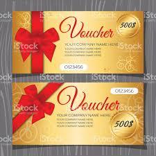 voucher template gift certificate template stock vector art 1 credit