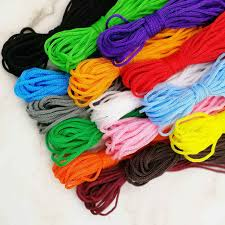 5Meter/Lot <b>5mm</b> Thick Colored Decorative <b>Twisted</b> Cord Rope Pure ...