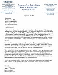 rep desaulnier cancels wells fargo account calls for ceo s rep desaulnier letter to wells fargo ceo