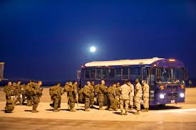 u s department of defense photo essay u s marines and sailors prepare to board a bus to the flightline on moroacuten air base