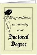 Graduation   Doctoral Degree card