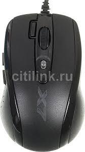 Купить <b>Мышь A4TECH X</b>-<b>710MK</b>, проводная, USB, черный в ...